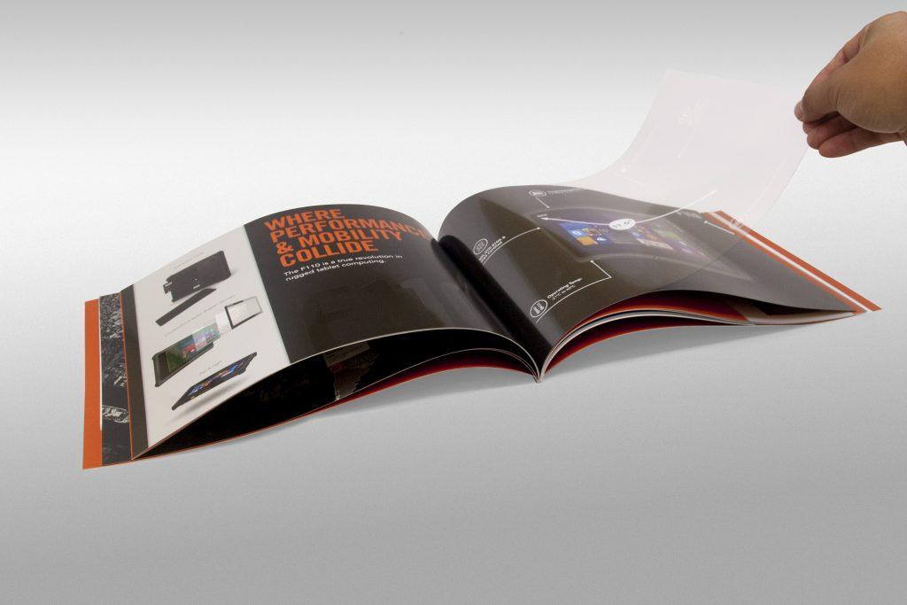 Print brochure open