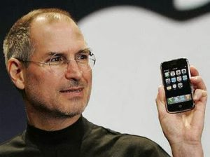 Steven Jobs with the iPhone