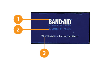 Band-Aid package top panel